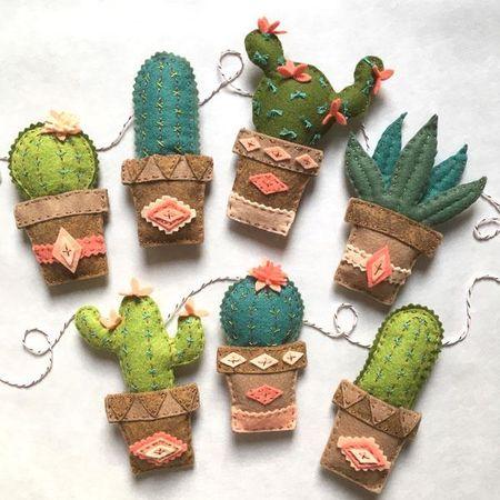 Kit feutrine guirlande cactus