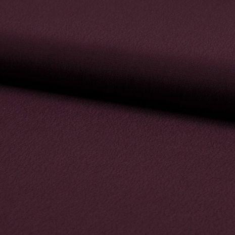 Tissu crêpe de viscose - Bordeaux