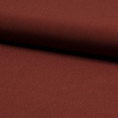 Tissu crêpe de viscose - Marron