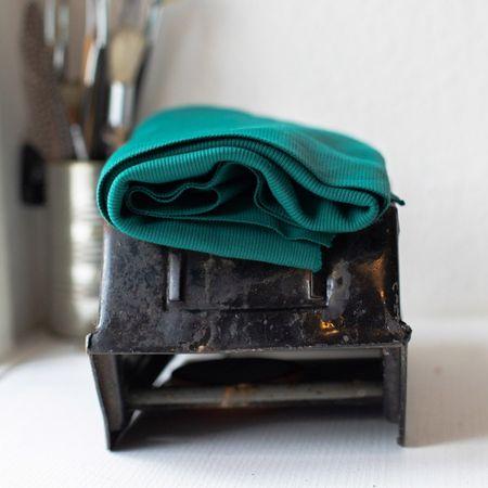 Tissu jersey bord côte côtelé 2x1 BIO - Vert jade