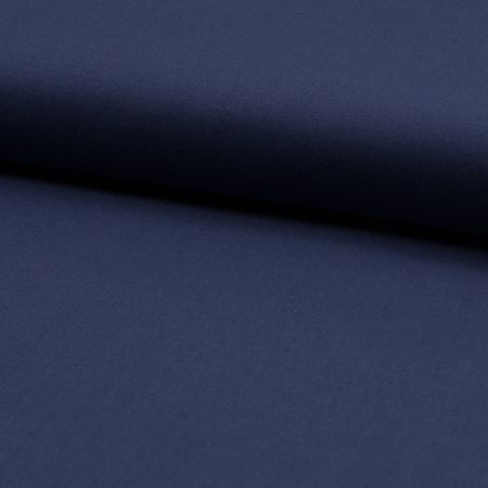 Tissu coton uni - Bleu indigo