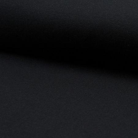Tissu jersey bord côte BIO - Noir