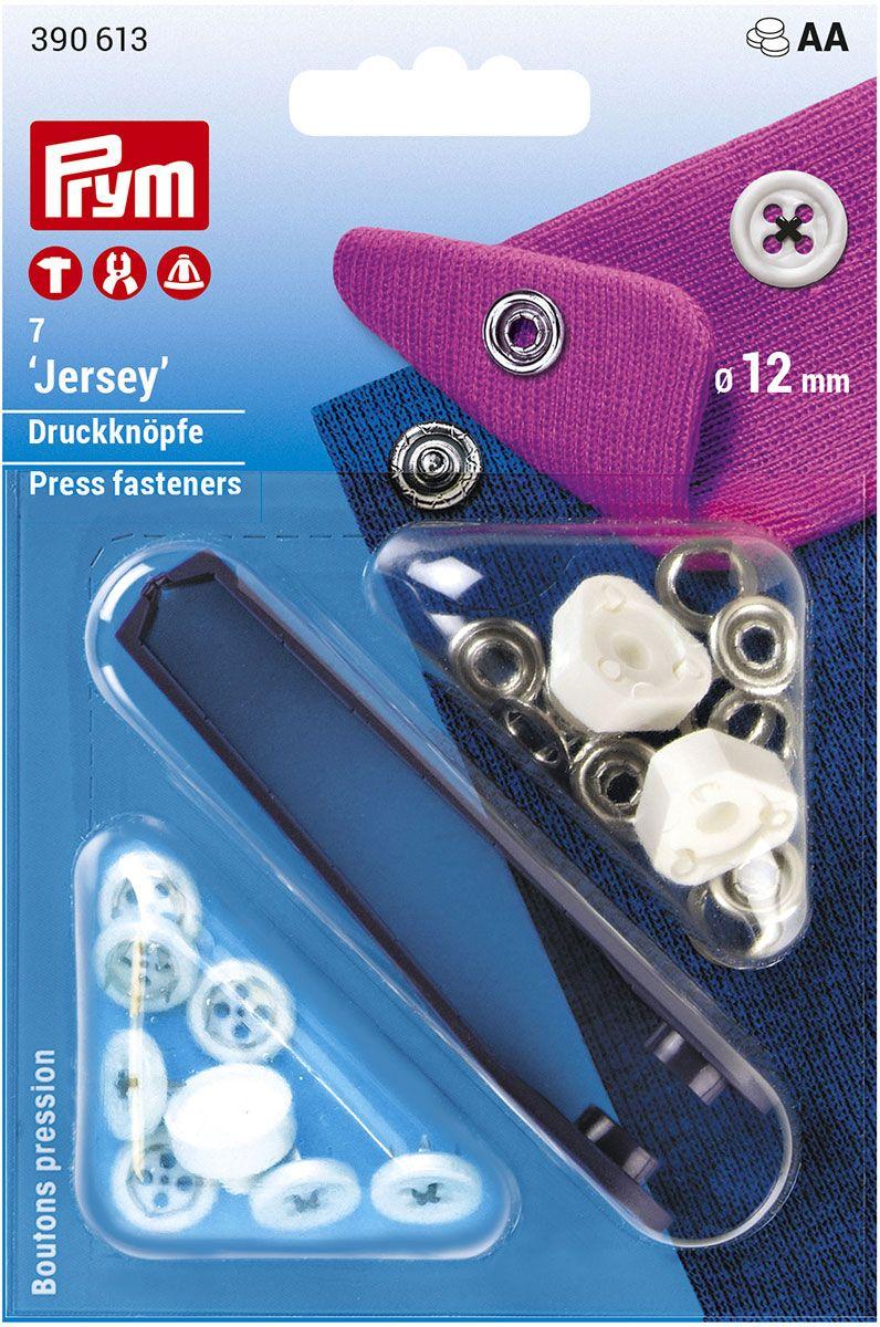 Boutons pression jersey noir aspect boutons de chemises avec outil 12 mm