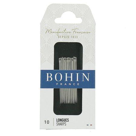 Aiguilles à coudre longues Bohin - N° 10