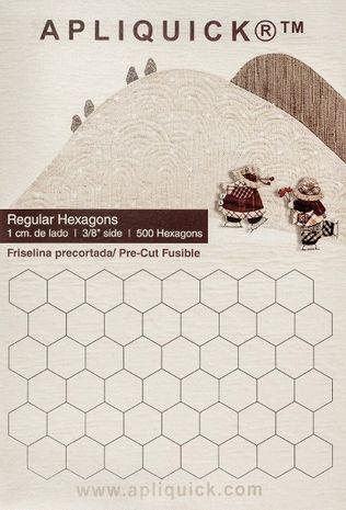 Gabarits hexagones Apliquick - 1,0 cm