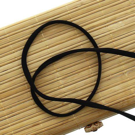 Cordon spaghetti lycra 5 mm - Noir