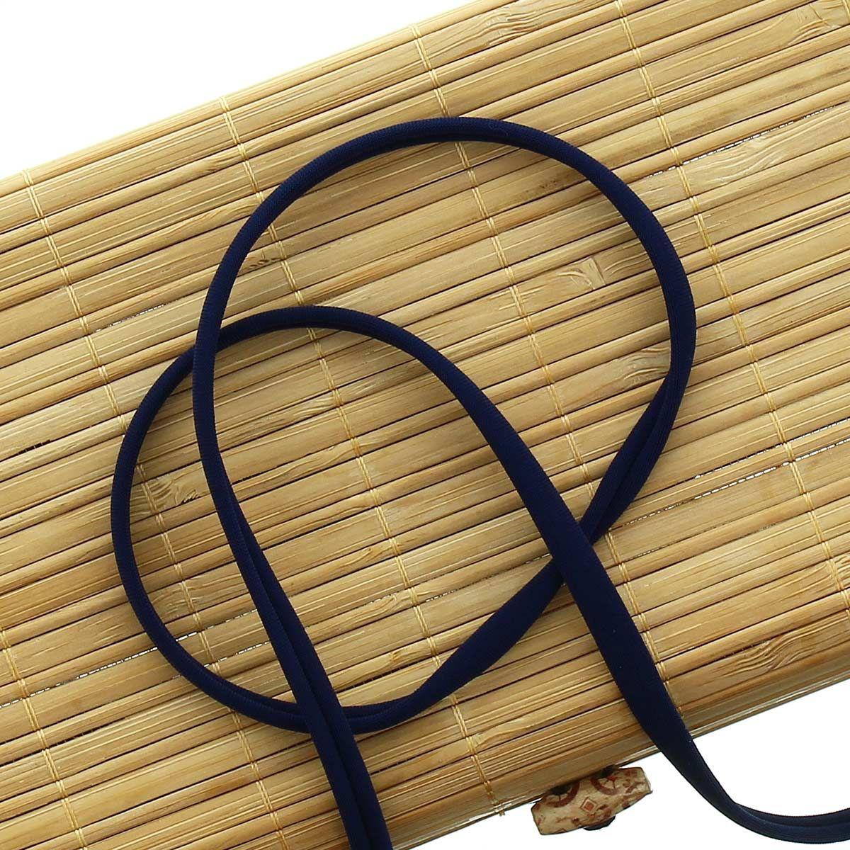 Cordon spaghetti lycra 5 mm - Bleu marine