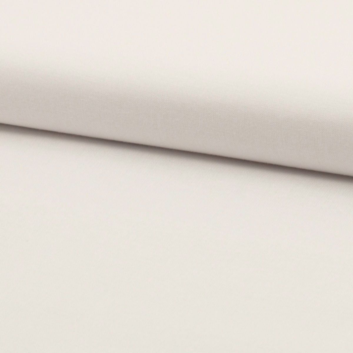 Tissu popeline de coton BIO - Blanc
