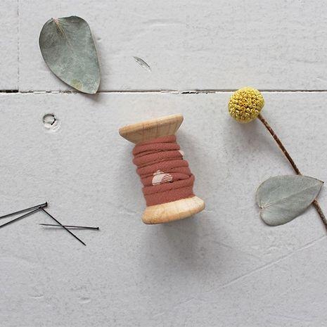 Passepoil viscose Seed Chestnut au mètre - Atelier Brunette
