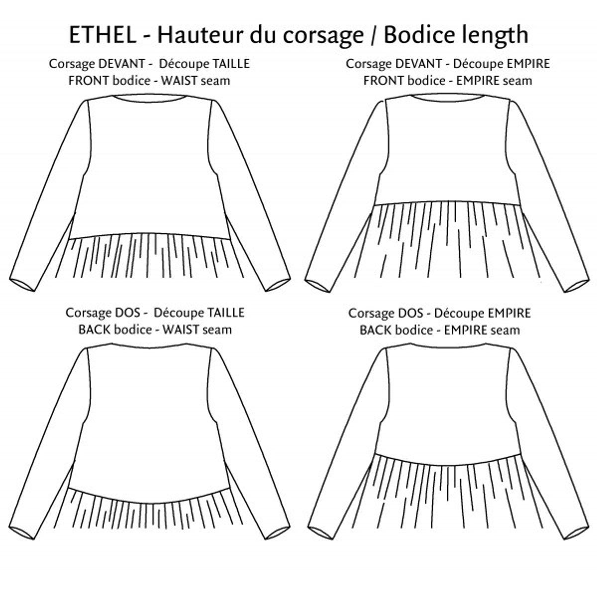 Patron de robe Ethel - P&M Patterns