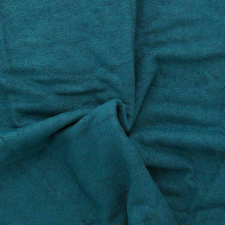 Tissu micro éponge de bambou - Paon