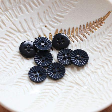 Bouton pâquerette 4 trous - Noir