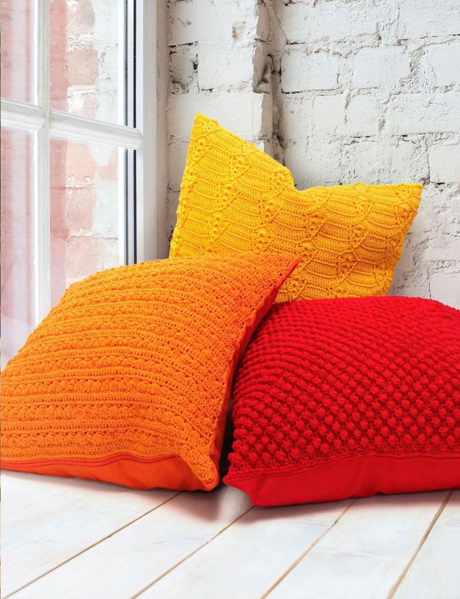 Modèle de housse de coussin orange