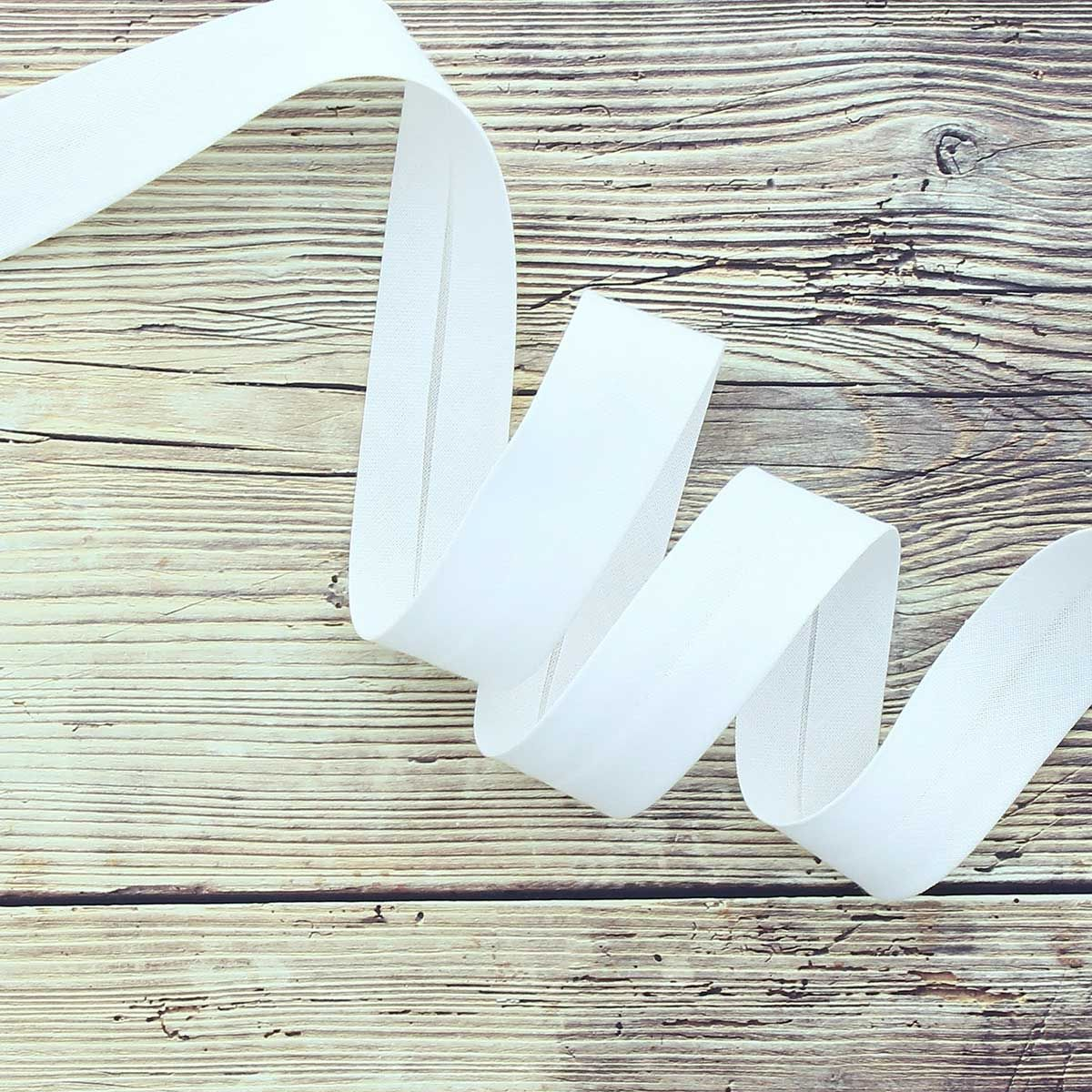 Biais coton bio - Blanc
