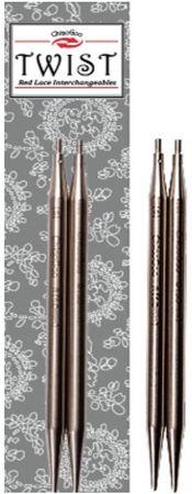 Pointes d´aiguilles métal 13 cm Twist Red Lace ChiaoGoo