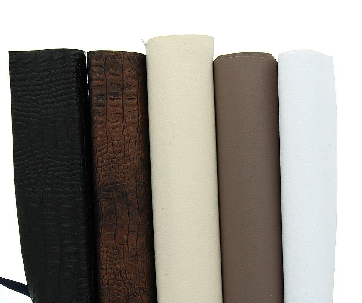 Lot de 5 coupons de simili-cuir de 0,50 cm
