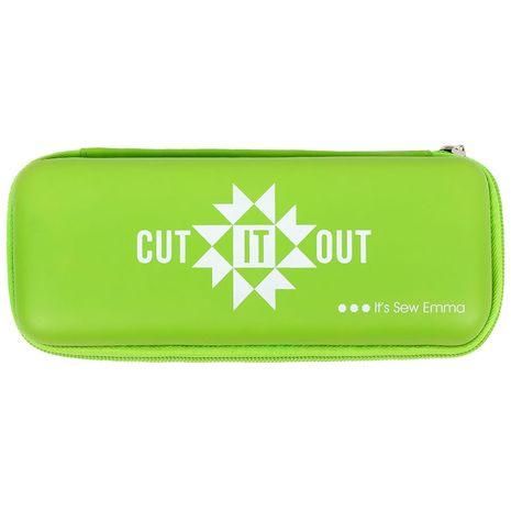 Trousse de rangement pour cutter rotatif vert citron - Cut It Out