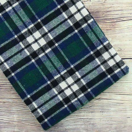 Tissus flanelle tartan écossais - Vert et bleu