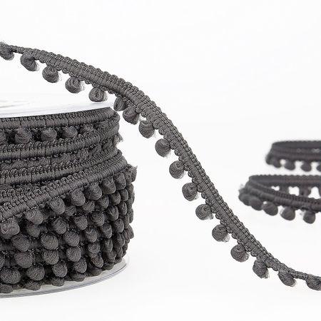 Galon mini pompons - Gris anthracite
