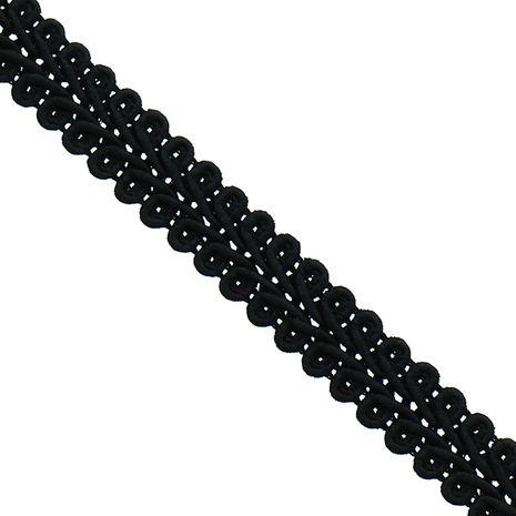 Galon épi style Chanel - Noir