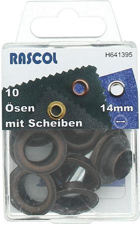 Boite 10 oeillets 14 mm avec outil de pose Rascol - Cuivre