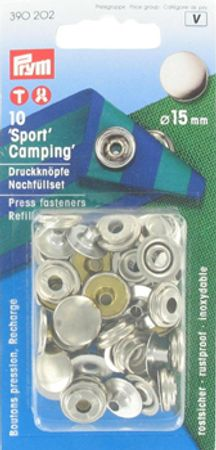 """Recharge boutons pression """"sport camping"""" Nickel"""