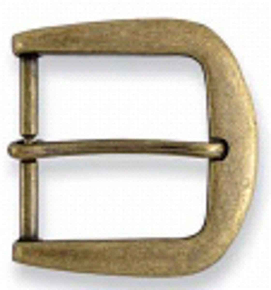Boucle de ceinture métal laiton antique