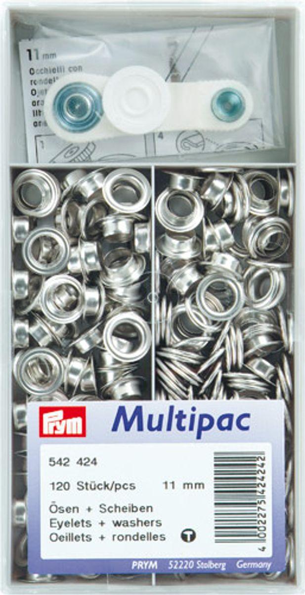 Multipac de 120 oeillets 11mm - Argent
