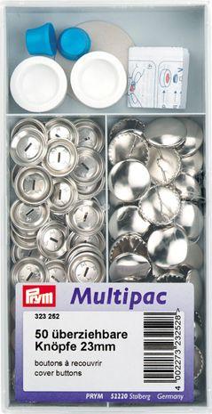 Multipac de 50 boutons à recouvrir - 23mm