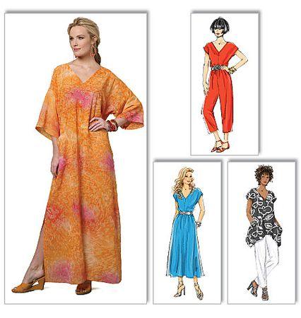 Patron de haut, robe, caftan, combinaison et pantalon - Butterick 5652