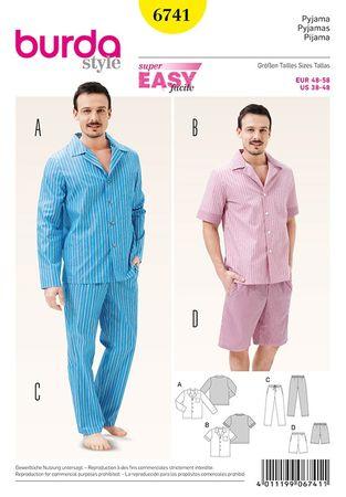 Patron de pyjamas - Burda 6741