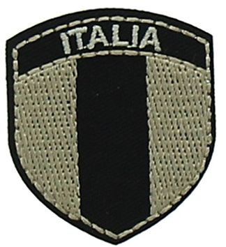 Motif blason noir Italia