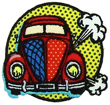 Motif voiture pop art