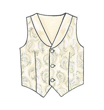 patron de gilets ceinture noeud papillon et cravate mccall 39 s 7223 rascol. Black Bedroom Furniture Sets. Home Design Ideas