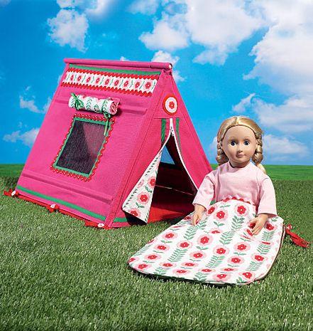 Patron de sac de couchage et tente pour poupée - McCall's 7268