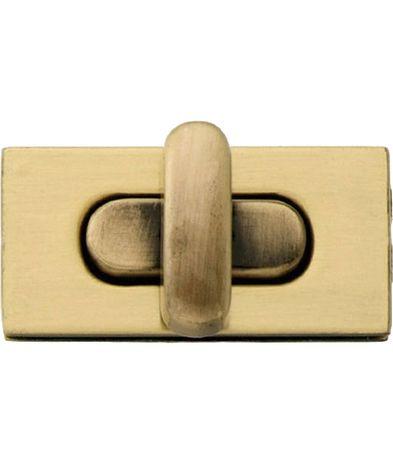 Tourniquet rectangle pour sacs - Laiton antique brossé