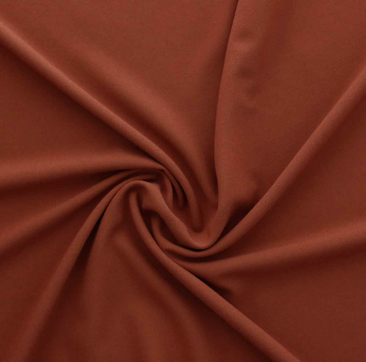 Tissu crêpe viscose - Rouille