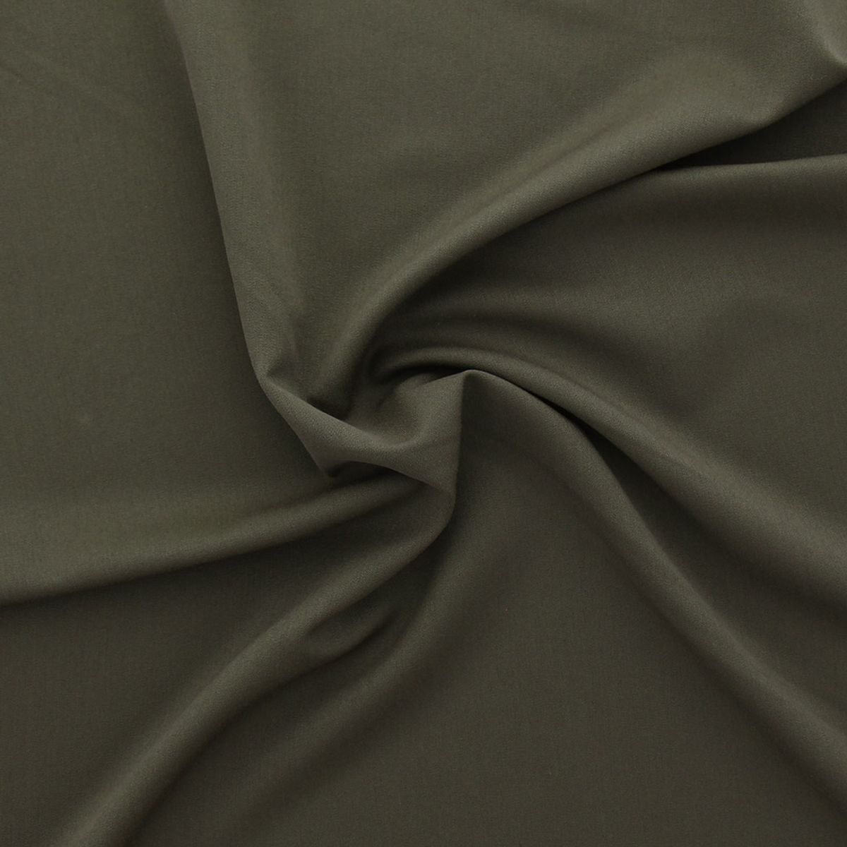 Tissu gabardine - Kaki foncé