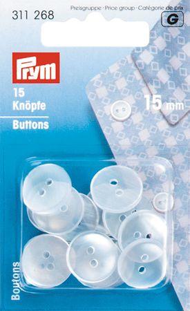 Boutons blouses imitation nacre - 15 mm