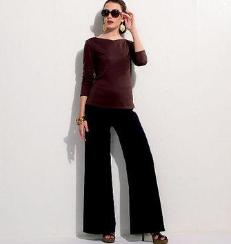 Patron de veste, ceinture, haut et pantalon - Vogue 9246