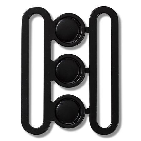 Boucle de ceinture noir 50 mm