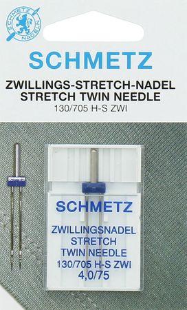 Aiguilles doubles Schmetz spécial stretch