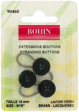 Lot de 3 boutons rallonge - Noir