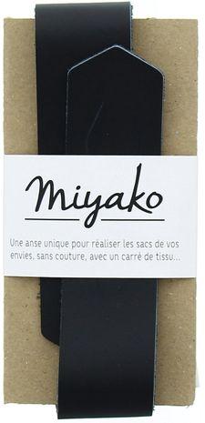 Anse en cuir Miyako - Noir