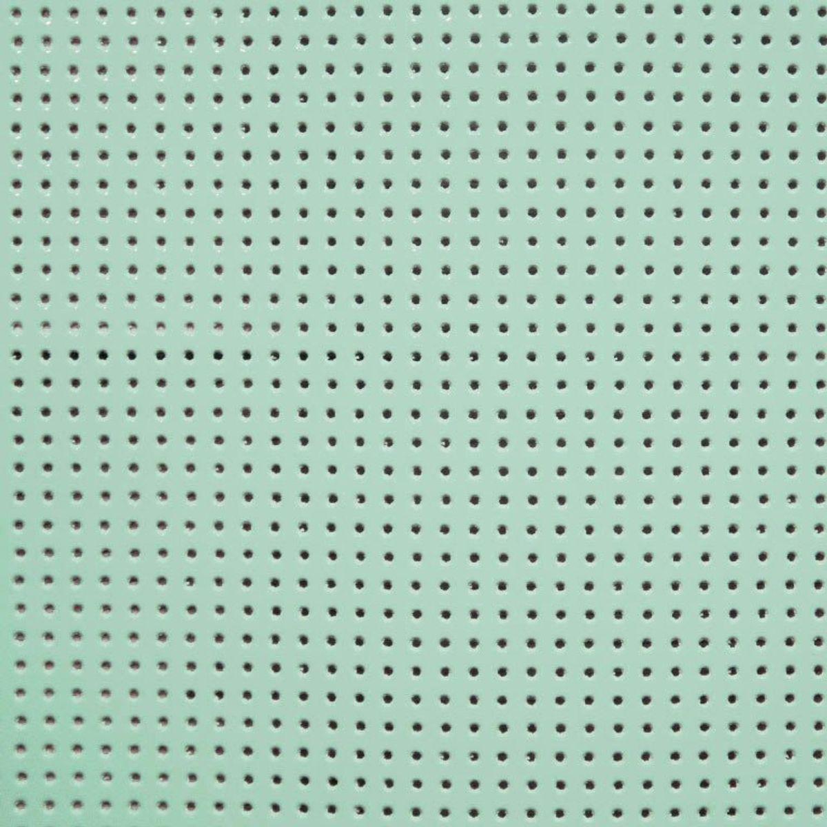 Vinyle laqué perforé - Vert eau