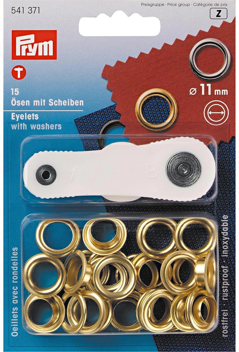 Boite 15 oeillets 11 mm avec outil de pose - Or