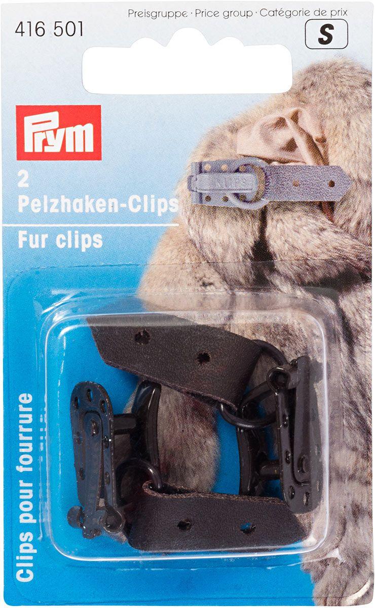 Clips pour manteaux fourrure - Marron