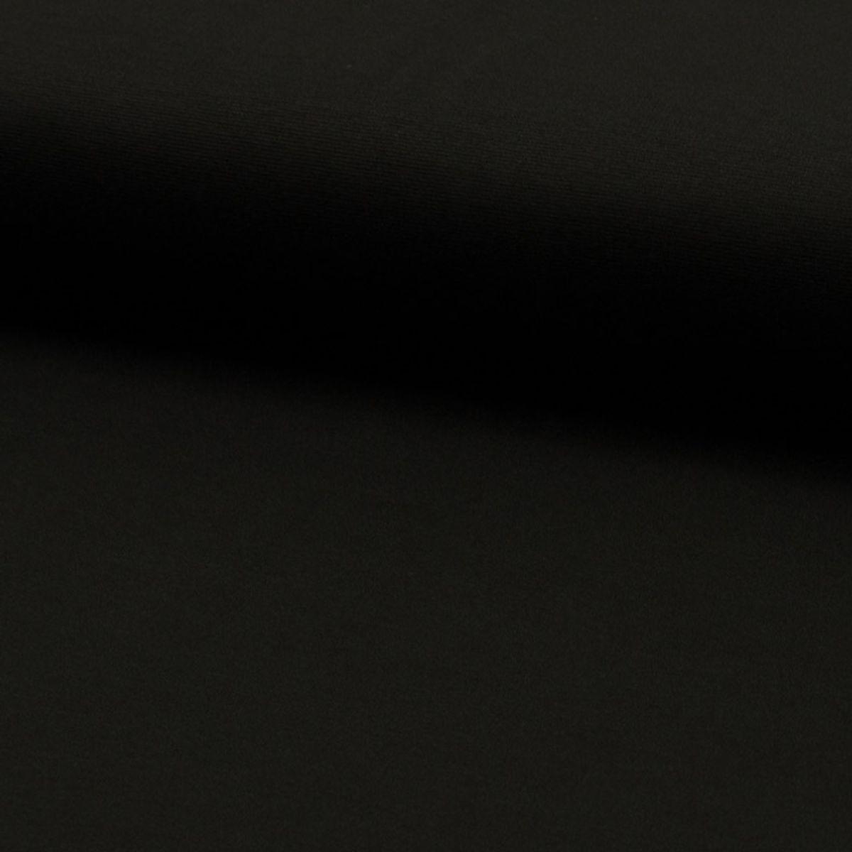 Tissu jersey lourd punto - Noir