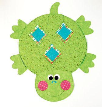 Tissu coton aborigène -Tortue vert