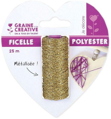 Bobine de ficelle métallique or pour string art